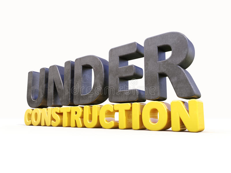 Under construction. Sign under construction isolated on white background vector illustration