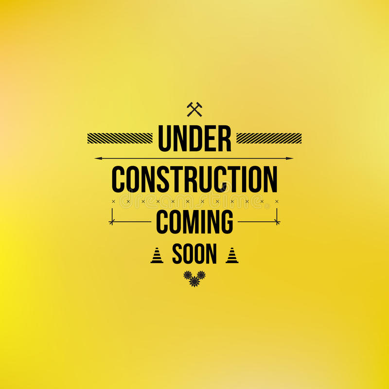 Under construction sign, typographic design royalty free stock photos