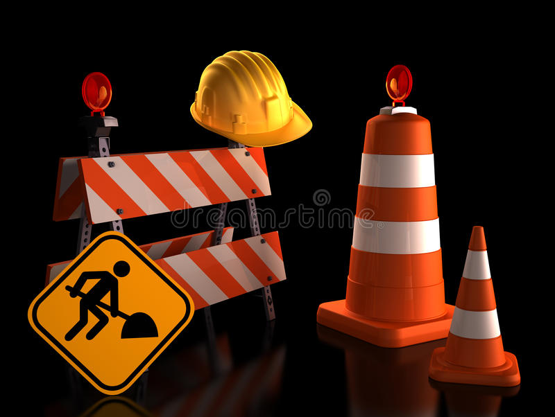 Download Under Construction stock image. Image of closed, construction - 37084381