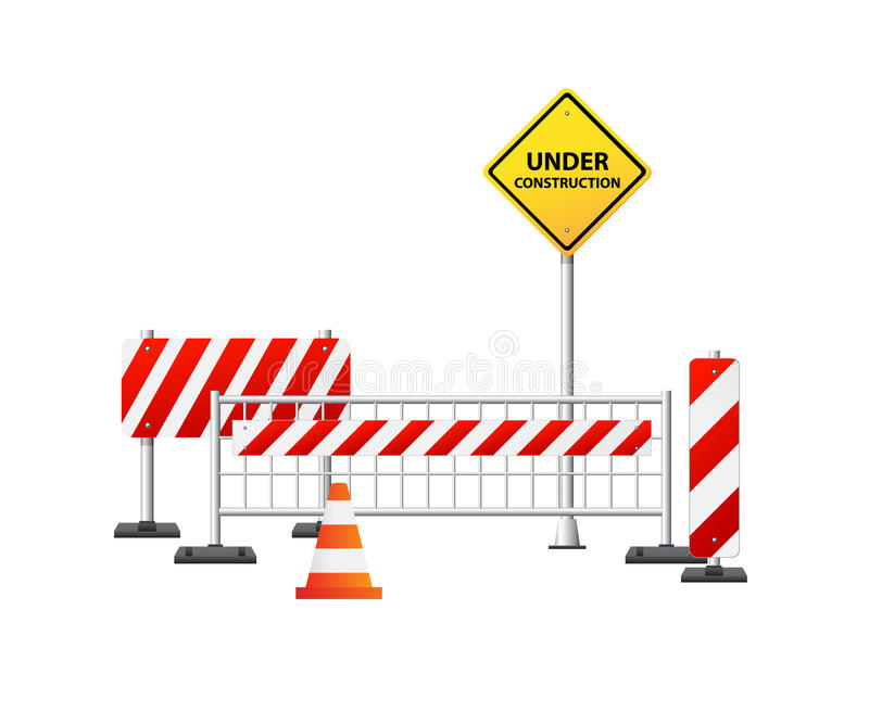 Download Under Construction Stuff On White Background Stock Vector - Image: 26250832