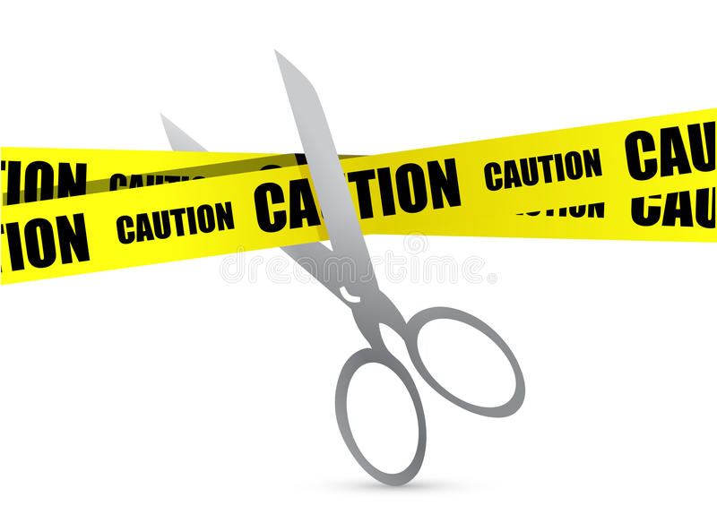 Download Under Construction Tape With Scissor Stock Illustration - Image: 28161725