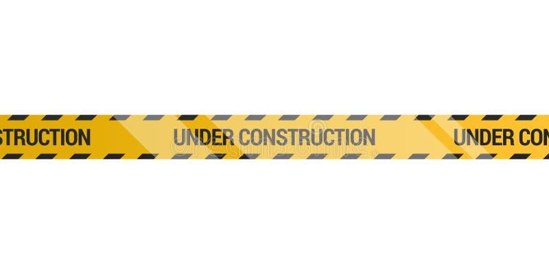 Under construction tape stock illustration