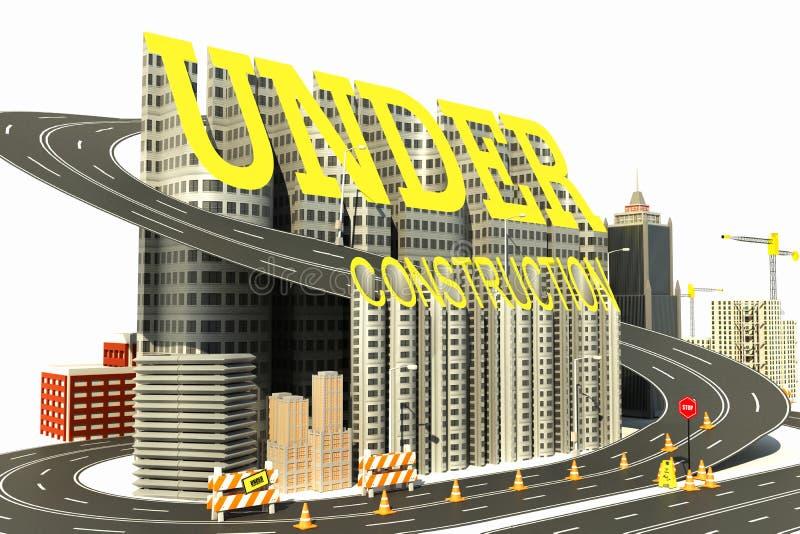 Under Construction Town vector illustration