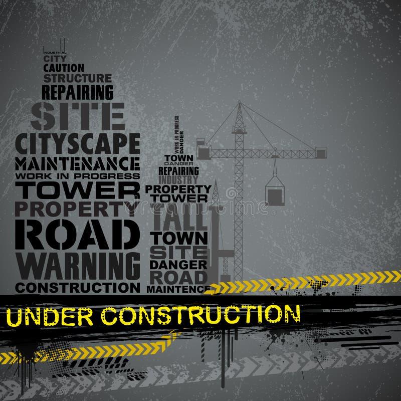 Under Construction Typography vector illustration