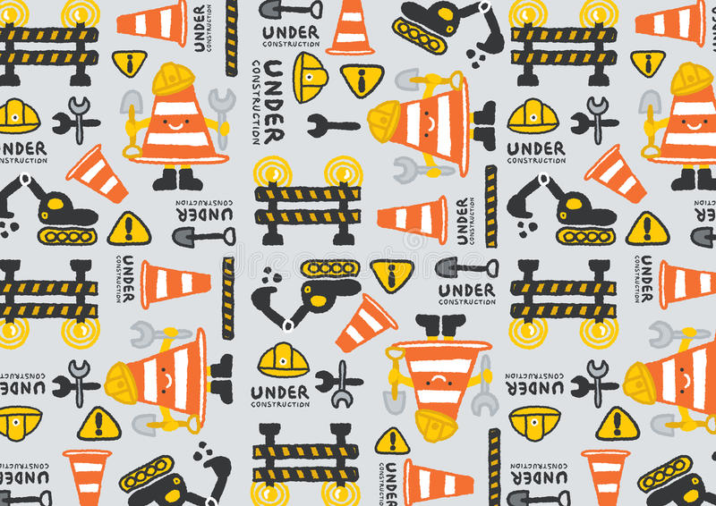 Under construction vector pattern royalty free illustration