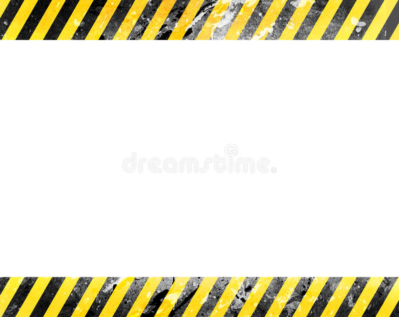 Under construction website background template. Light background with yellow and black grunge stripes and blank white space for your text or pictures. Ideal for