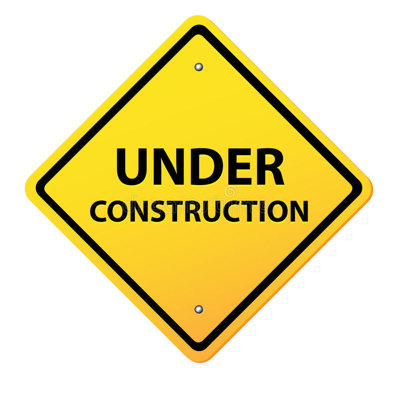 Free Under Construction Yellow Sign Stock Photography - 25963992