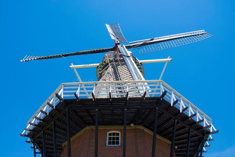 Under den holländska väderkvarnen arkivbild
