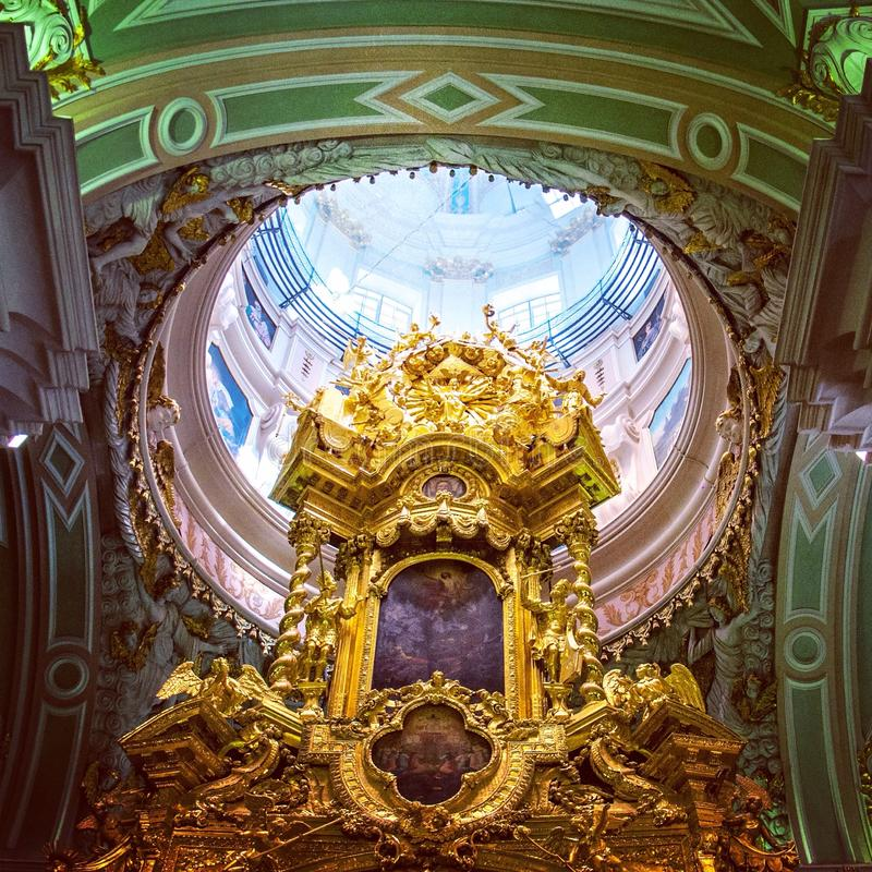 Under the dome of Peter and Paul Cathedral royalty free stock images