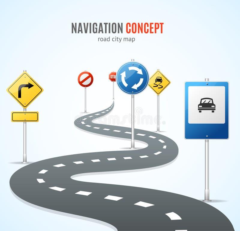 under för navigering för översikt för strålkompassbegrepp ljust liggande öppet vektor royaltyfri illustrationer