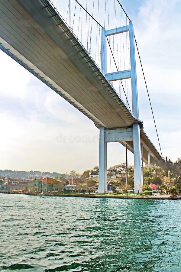 Under the First Bosphorus Bridge, Istanbul, Turkey stock photo