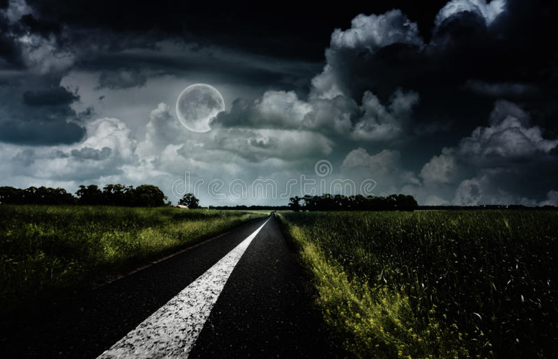Under the full Moon. royalty free stock photos