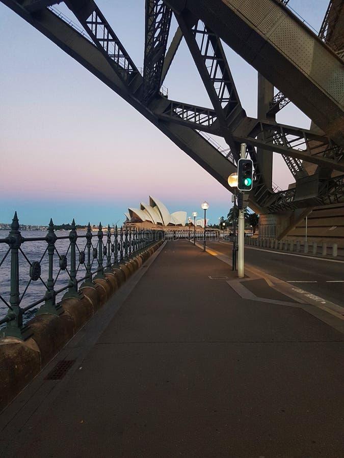 Under the Harbour Bridge at Sydney, NSW, Australia stock photo
