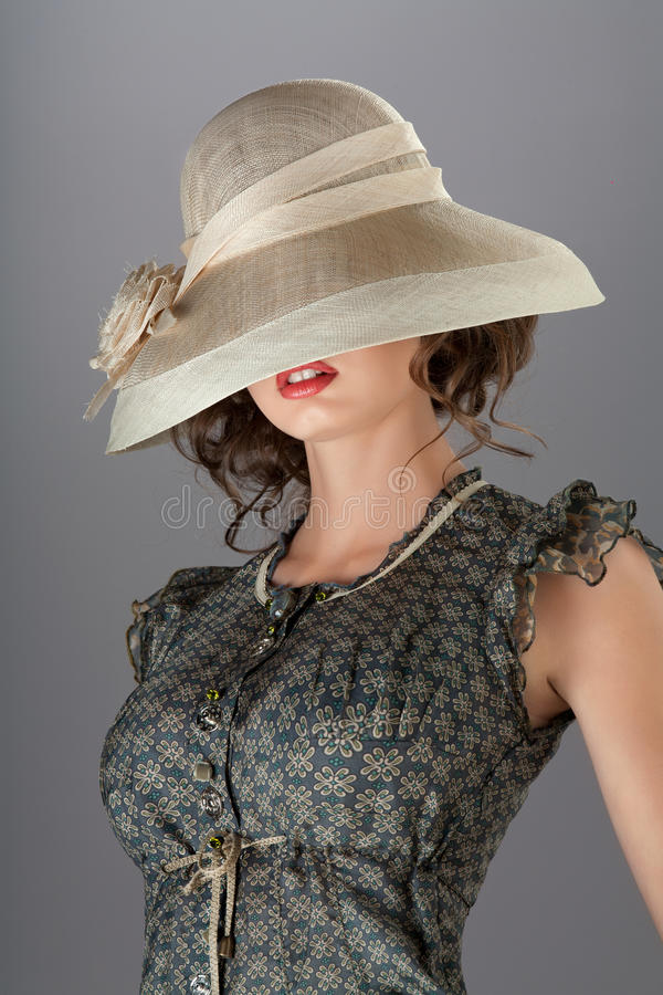 Under The Hat. Royalty Free Stock Photos