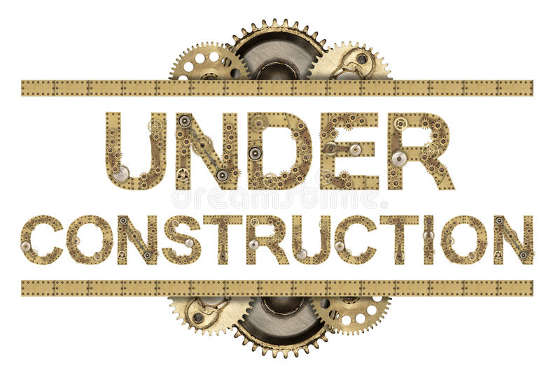 Under konstruktion arkivbild