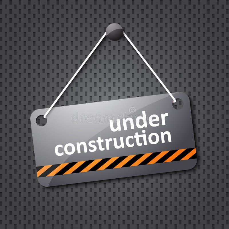 Under konstruktion underteckna stock illustrationer