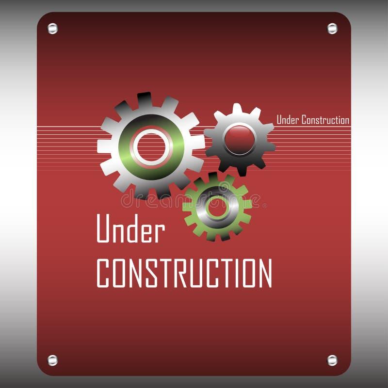 Under konstruktionsdesign stock illustrationer