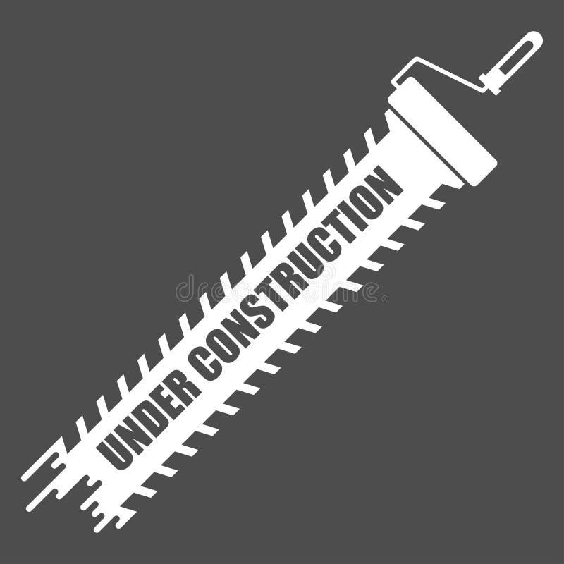 Under konstruktionsvitsymbol vektor illustrationer
