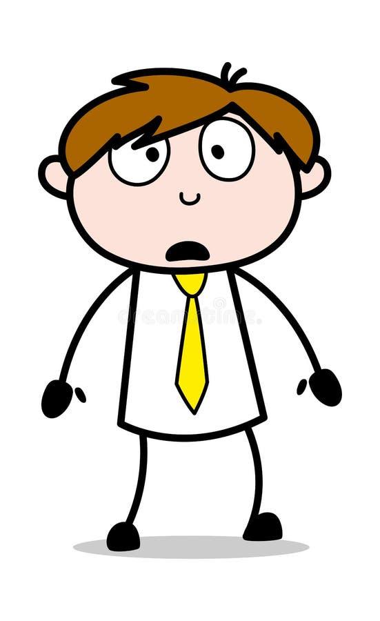 Under - kontorsrepresentantEmployee Cartoon Vector illustration vektor illustrationer