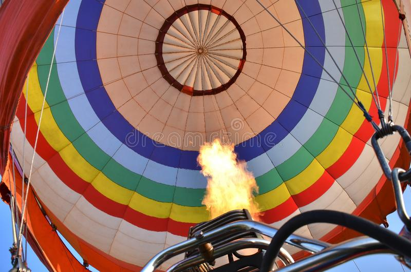 Under kupolen av ballongen royaltyfri foto