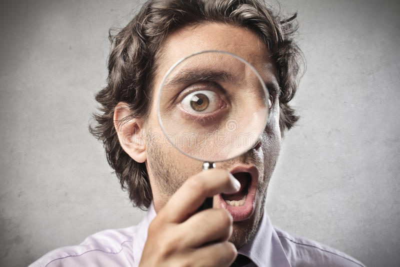 Under the Magnifying Glass royalty free stock image