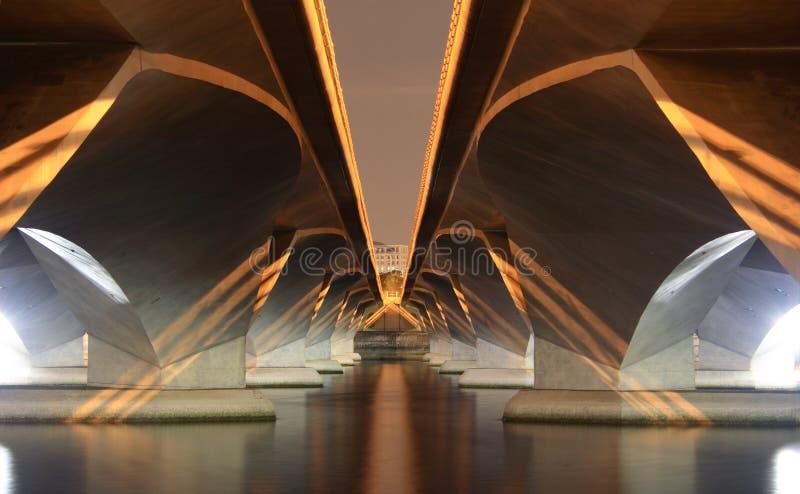 Under a modern Bridge stock photography