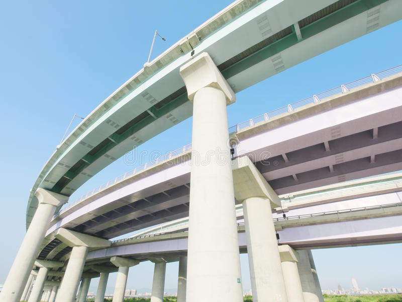 Under overpass view royalty free stock image