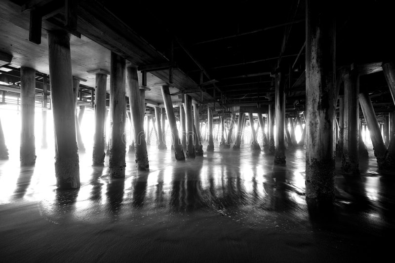 Download Under the Pier 2 stock photo. Image of water, pylons, pier - 5074518