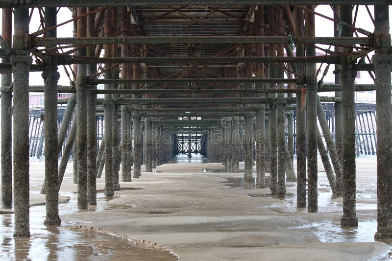 Under the Pier in Blackpool, UK royalty free stock images