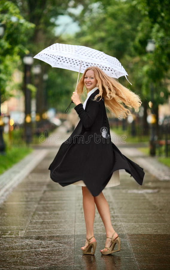Download Under the Rain stock image. Image of beautiful, face - 21043129