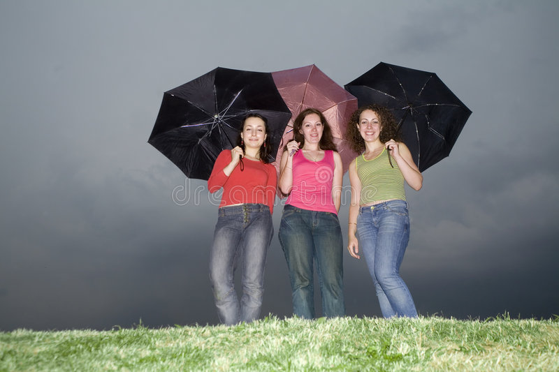 Download Under the rain stock image. Image of friends, friendship - 2942851