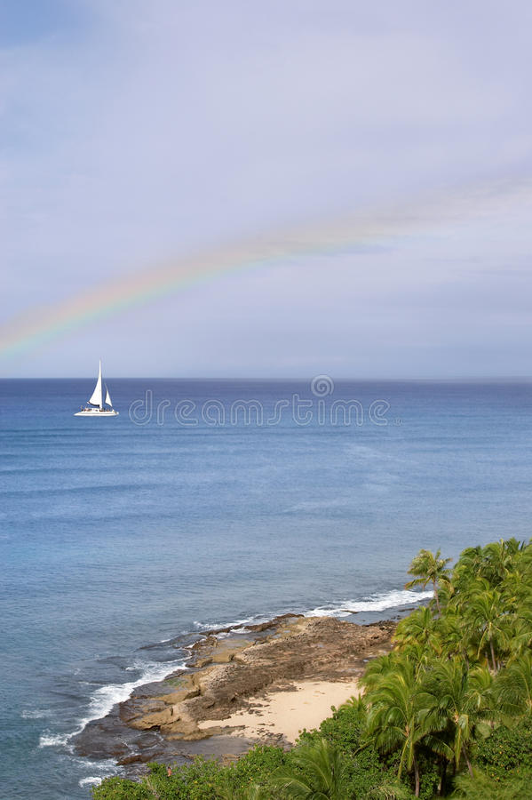 Download Under the rainbow stock photo. Image of rocks, sunny - 21029264
