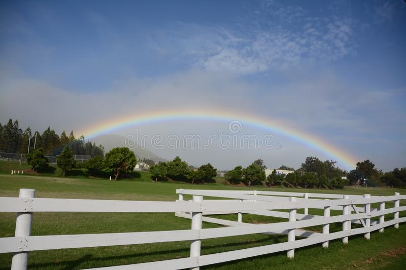 Under the rainbow stock photography