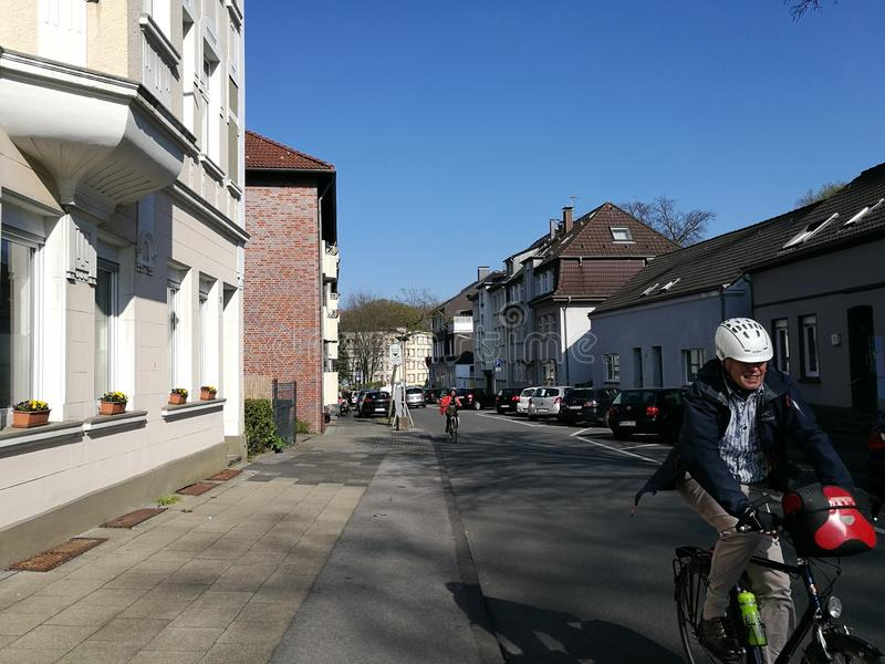 Under the Recklinghausen Town`s Sun stock photography