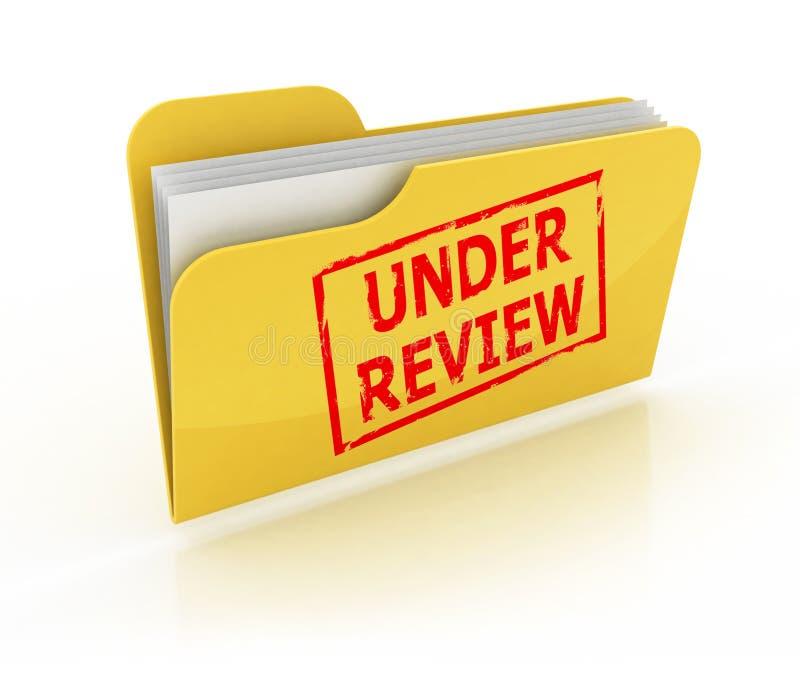 Under Review Folder Icon Stock Illustration. Illustration