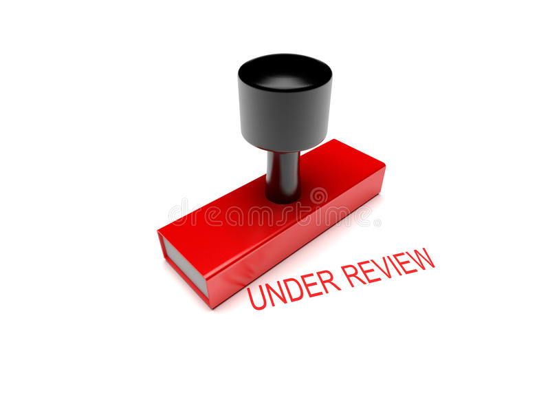 Under review rubber stamp 3d illustration royalty free stock photo