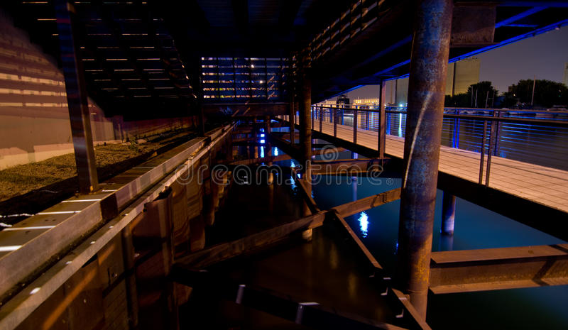 Download Under the Riverwalk stock photo. Image of supports, underbelly - 33491626