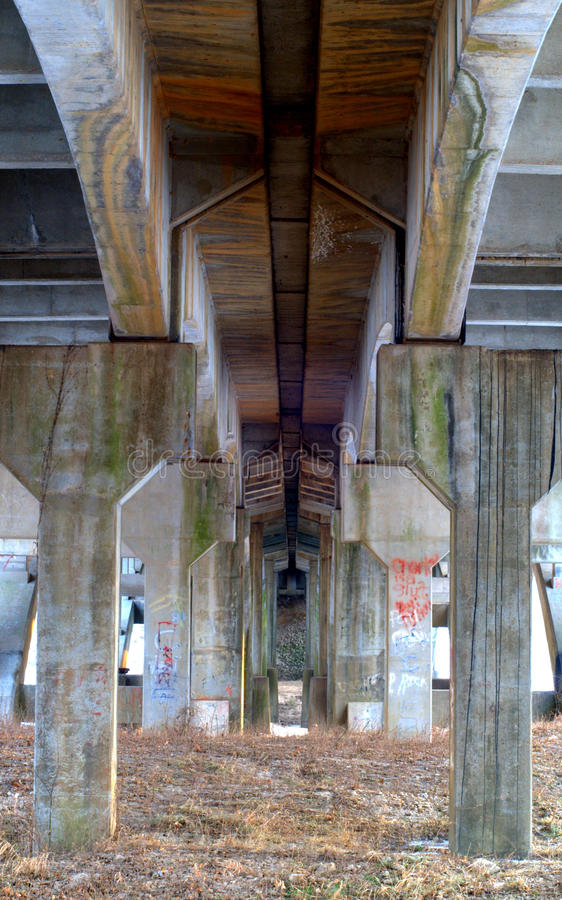 Under route 66 bridge royalty free stock images
