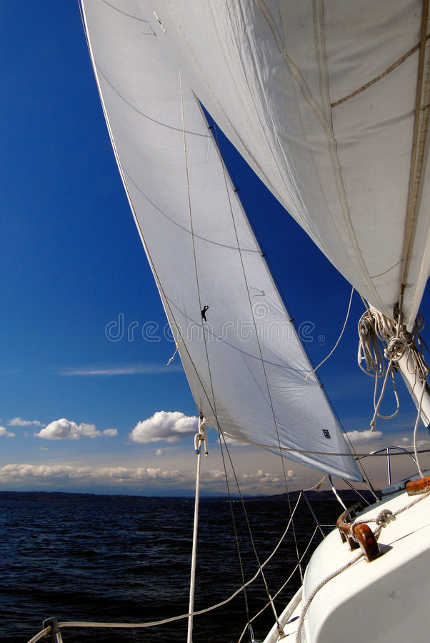 Under Sail - Starboard Tack Looking Forward Stock Images