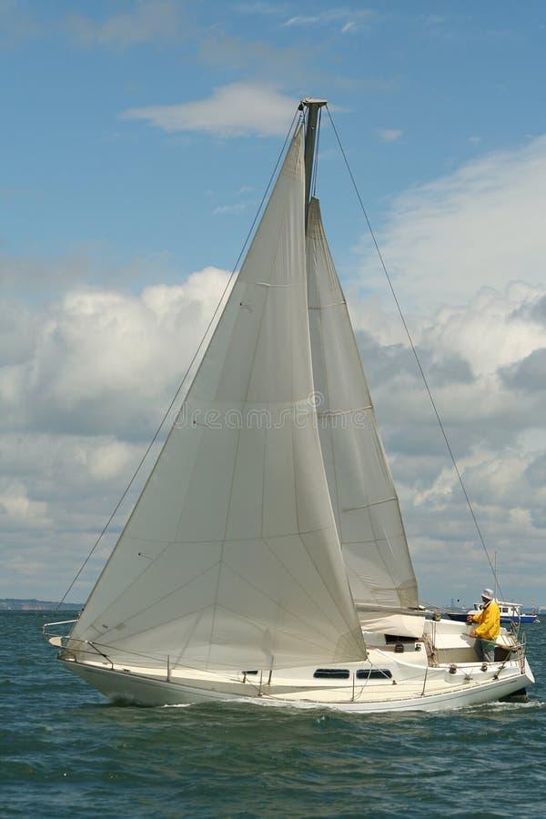 Under sails stock image