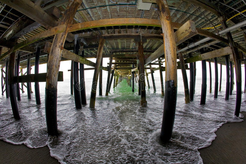 Under the San Clemente Pier stock photos