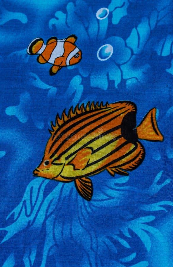 Under sea life. Print fabric stock image
