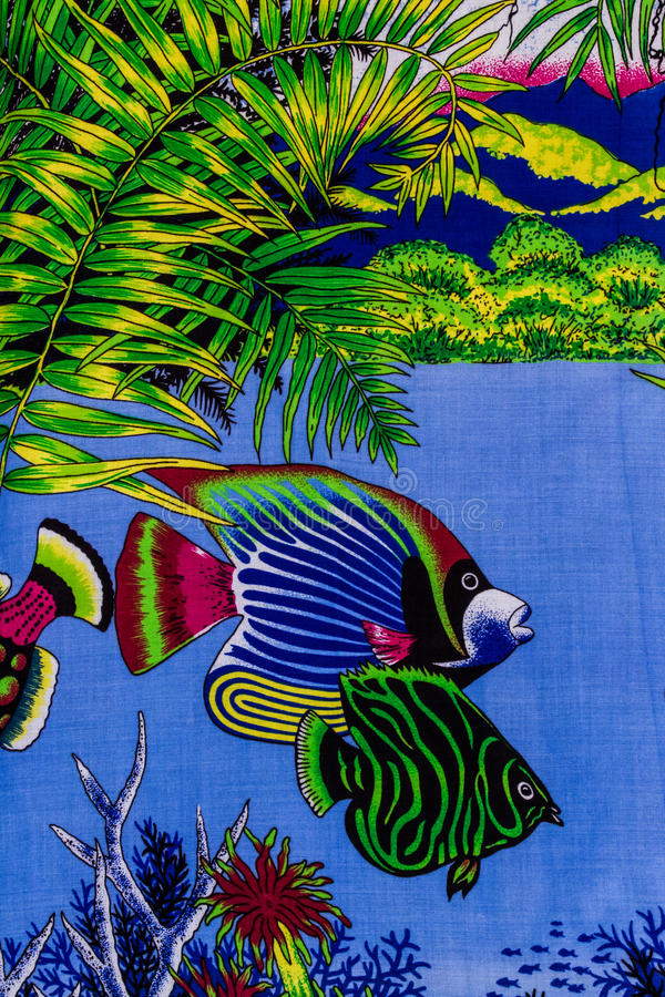 Under sea life. Print fabric royalty free stock images