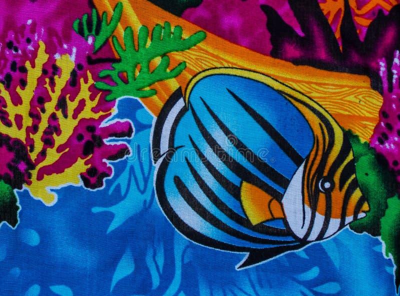 Under sea life. Print fabric royalty free stock image