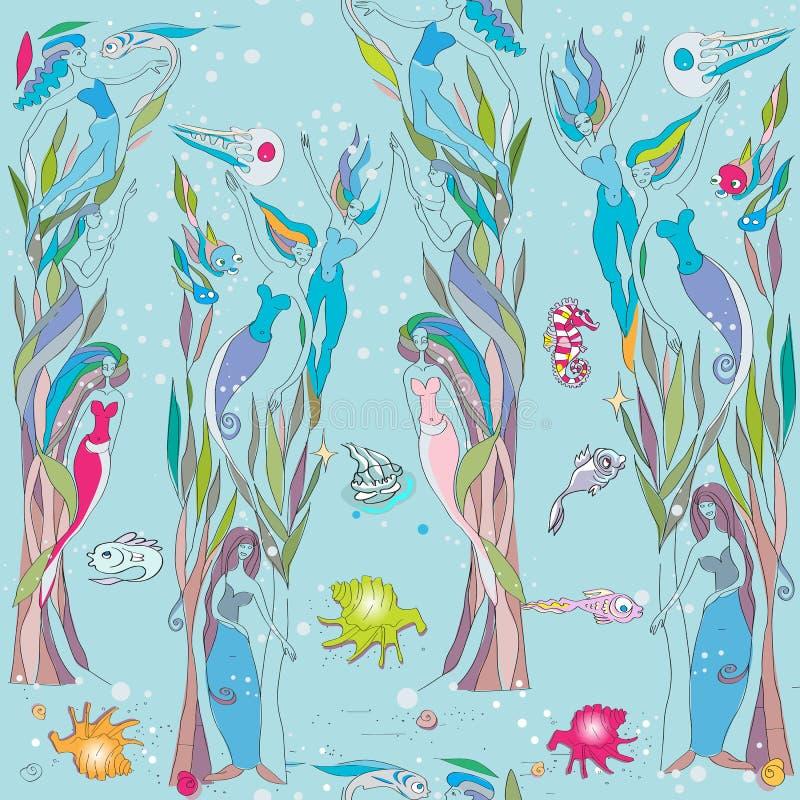 Under the sea pattern stock illustration