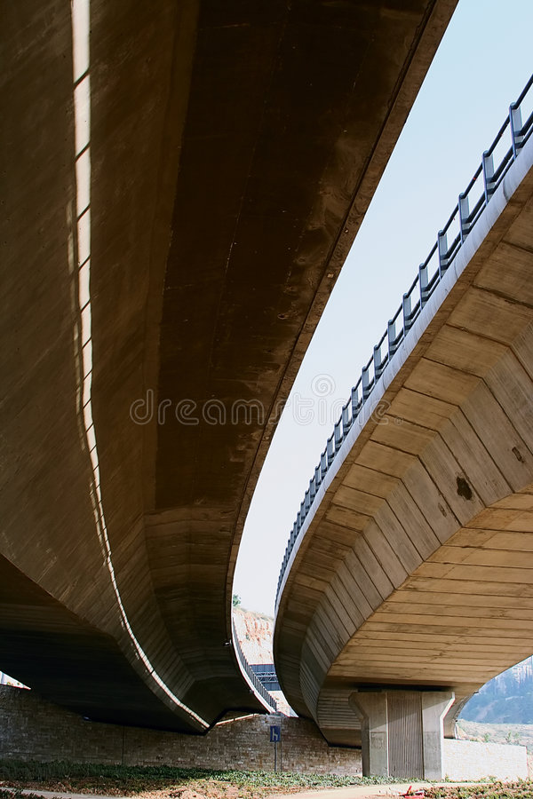 Under side of a bridge stock photos