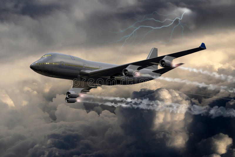 Download Under the storm stock illustration. Image of flying, difficult - 16048059