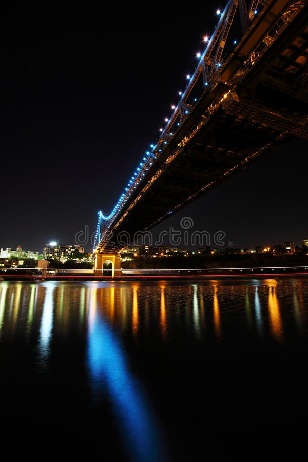 Under Story Bridge and Brisbane City royalty free stock photos