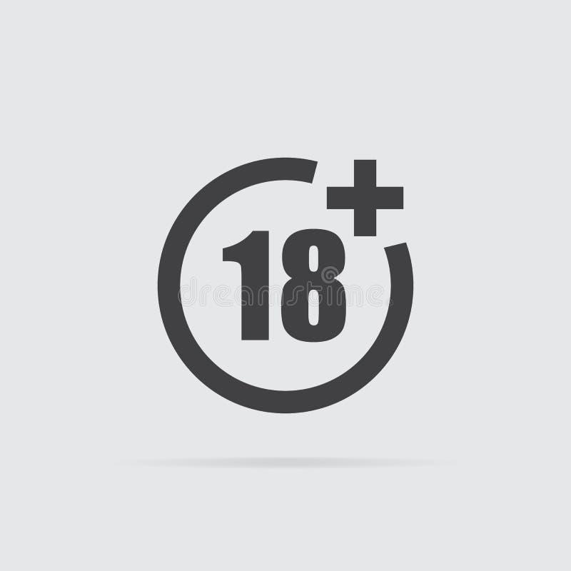 Under symbol arton i plan stil som isoleras på grå bakgrund vektor illustrationer