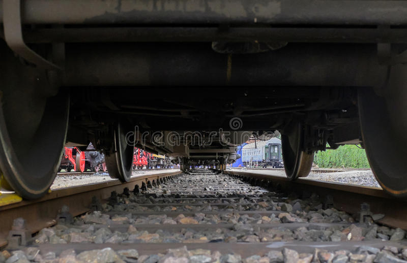 Under the train royalty free stock photography